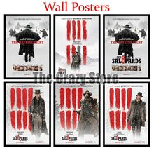 The Hateful Eight Classic White Kraft Paper Paintings Vintage Wall Posters Stickers Home Decor Gift 42X30cm