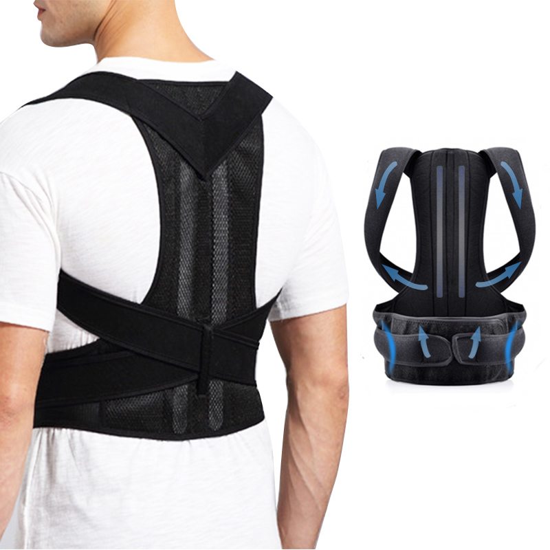 New Posture Corrector for Men and Women Back Posture Brace Clavicle Support Stop Slouching and Hunching Adjustable Back Trainer