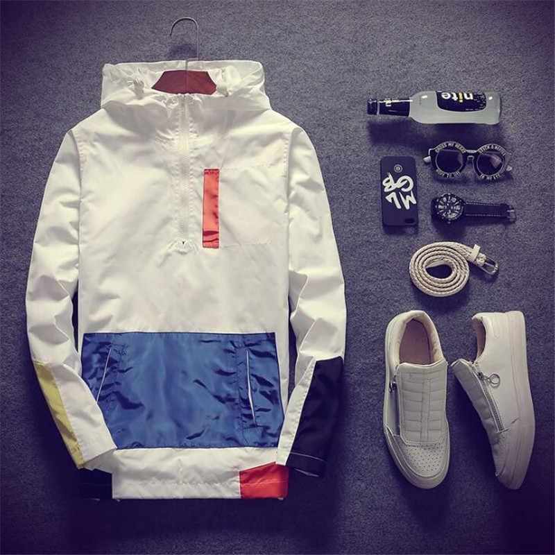 Windbreaker เสื้อแจ็คเก็ตผู้ชาย 2020 ฤดูใบไม้ผลิแฟชั่นเสื้อผู้ชาย/ผู้หญิง Hooded แจ็คเก็ตลำลองชายเสื้อแจ็คเก็ตชายเสื้อบาง Coat Outwear เสื้อผ้า