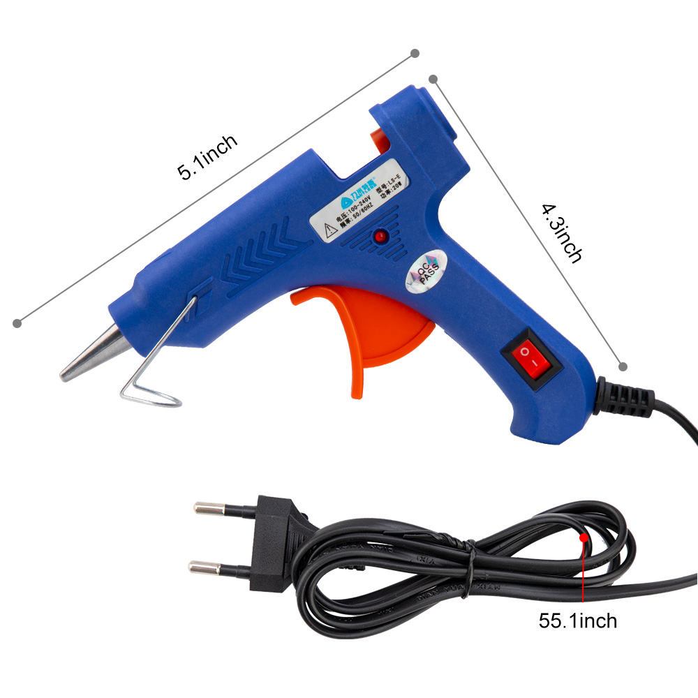 Image 5 - 20w Hot Glue Gun Set With Glitter Stick Glue Gun 7*100mm Hot Melt Adhesive Sticks Rod For Gun Glue Craft Repair DIY-in Hot Melt Glue Sticks from Tools on