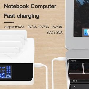 Image 4 - 100 واط متعددة منافذ Usb حوض محطة USB شاحن PD QC 3.0 تهمة سريعة نوع C شحن سريع لأجهزة الكمبيوتر المحمول آيفون 12 11 شاومي