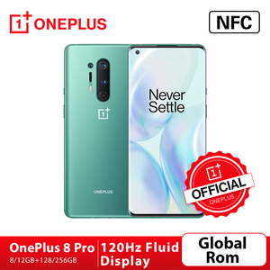 Global Rom Oneplus 8 Pro 5G Smartphone Snapdragon 865 8G RAM 128G ROM 6.78'' 120Hz Screen Android10 30W Charger NFC