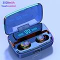 3500mAh LED Bluetooth auriculares inalámbricos auténticos auriculares TWS Control táctil auriculares deportivos Cancelación de ruido auriculares