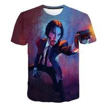 T -Shirt John Wick The Boogie Man Movie 3d Print John Wick :Chapter 3 -Parabellum Tshirt O -Neck Short Keanu Reeves Killer