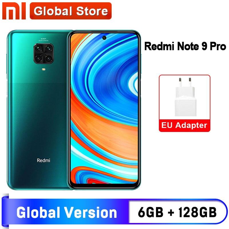 Глобальная версия смартфона Redmi Note 9 Pro 6 ГБ 64 Гб/6 ГБ 128 ГБ NFC Восьмиядерный Snapdragon 720G 64-мегапиксельная четырехъядерная камера 5020 мАч
