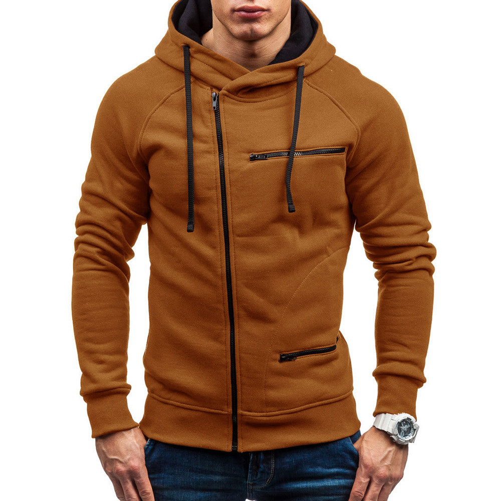 Casual Men's Autumn Solid Sweatshirt Simple Stylish Male Long Sleeve Hoodie Sweatshirt Top Outwear Clothes Sudadera Hombre