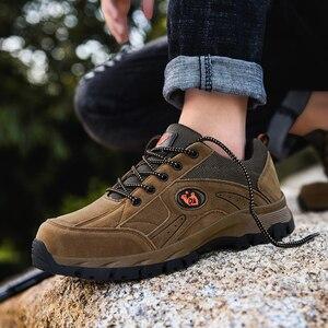 Image 4 - COOLVFATBO askeri taktik botları erkekler için deri açık havada yuvarlak ayak ayakkabı erkek rahat tırmanma yürüyüş ayakkabıları artı boyutu 36 47
