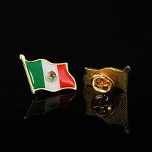 Мексиканская машущая Национальный флаг брошь галстук лацкан