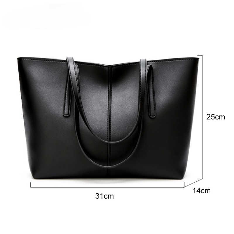 На цельных высоких-Ёмкость, на каждый день, мягкая сумка через плечо из искусственной кожи для женщин Женский все-матч, сумка на плечо, для девушек, Повседневные Сумки из натуральной кожи