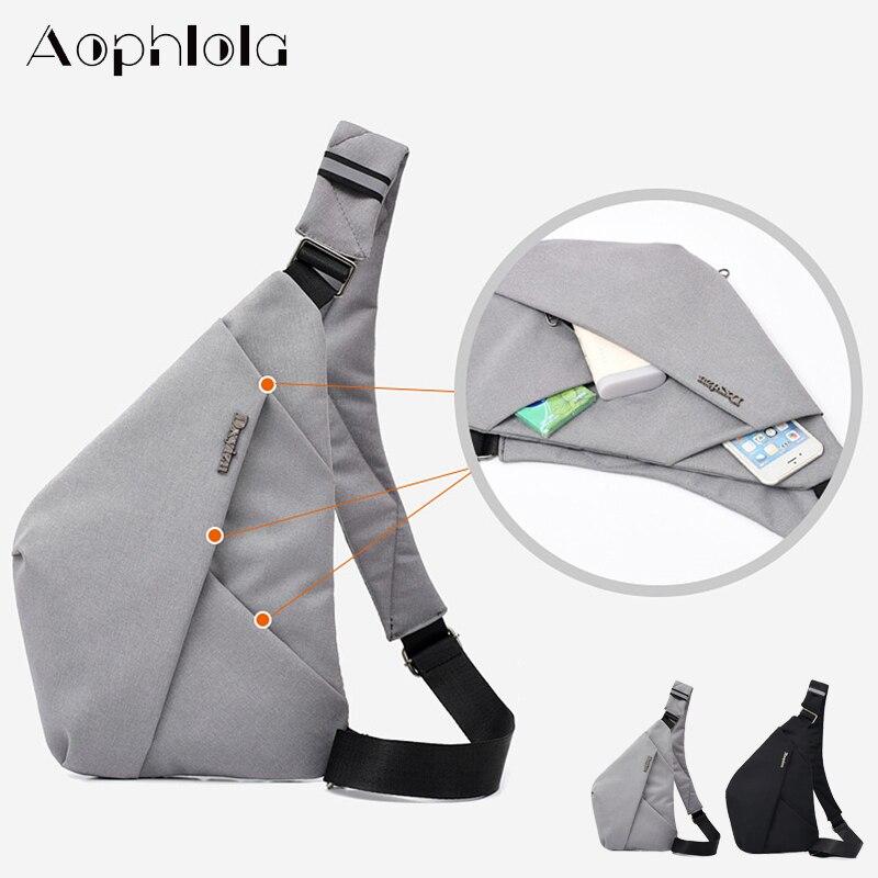Bolsa de viagem masculina fino saco de ombro à prova de burglarproof diário carry pack coldre anti roubo segurança cinta de armazenamento digital sacos de peito