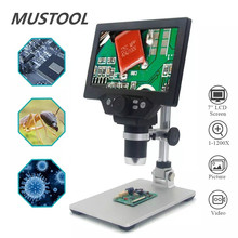 MUSTOOL G1200 12MP 1 1200X กล้องจุลทรรศน์กล้องจุลทรรศน์กล้องจุลทรรศน์ดิจิตอลสำหรับ Soldering อิเล็กทรอนิกส์กล้องจุลทรรศน์ต่อเนื่องขยายแว่นขยาย