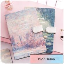 JIANWU malowanie kolorowe zeszyt twarda osłona notatnik planowanie planowanie kawaii notatnik twarda okładka pamiętnik biuro szkolne