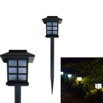 Colorful Outdoor waterproof LED Solar Lights Built-In Stakes garden lawn camping lamp bulb power-saving recharged European style