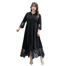 Женское летнее кружевное праздничное платье размера плюс 8xl