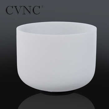 "CVNC 10"" Note F Heart Chakra Tuned Frosted Quartz Crystal Singing Bowl - SALE ITEM Sports & Entertainment"