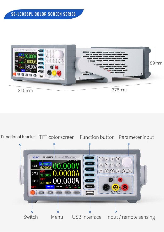 Neue art von hohe präzision digitale programmierbare lineare DC netzteil für 30V10 digitale farbe screen display