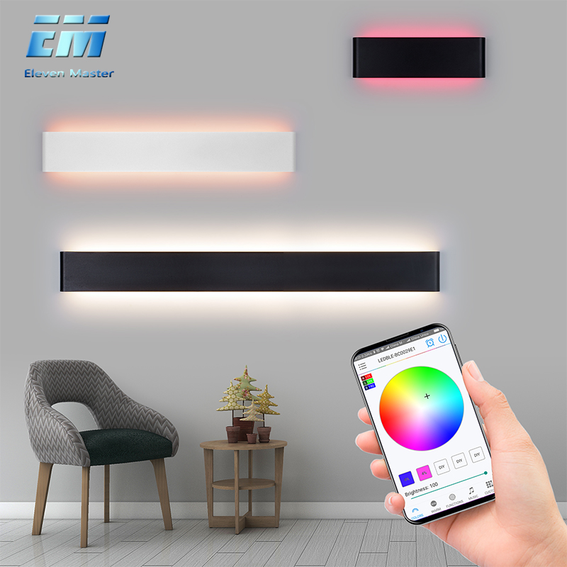 Wall Mounted LED Wall Lamp Indoor LED RGB Colorful Lighting Mural Luminaire Background Wall Light for Home Hotel KTV Bar ZBD0001