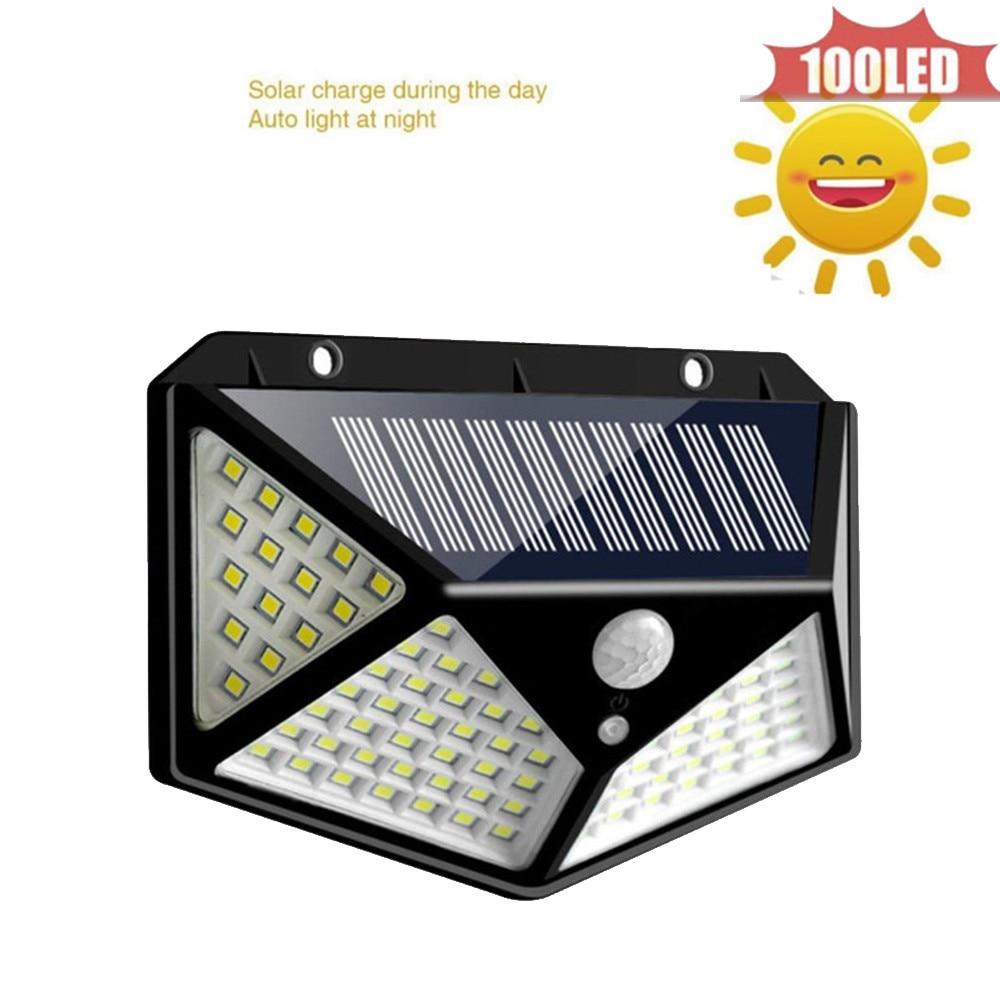 Outdoor Solar Light 100 LED Solar Power Lamp Bulb Auto PIR Motion Sensor Solar Lantern Waterproof Street Wall Garden Lights 4 Si