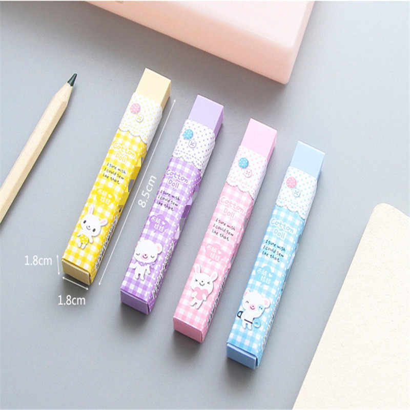 1 Pcs Kawaii Cartoon Cube Eraser Color 2b Eraser Student Writing Painting Eraser