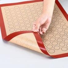 Силиконовый выпечка пирожных макарон коврик для противни выпекания
