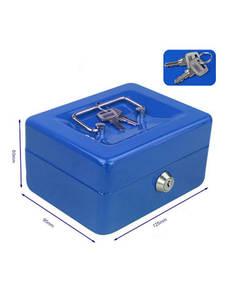 Cash-Box Jewellery Locker-Safe Coin-Money Steel Security Hidden Mini Home-Shop Protable-Key