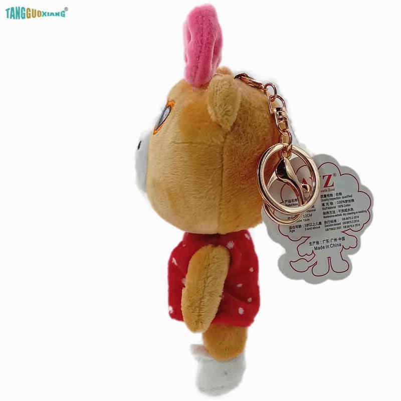 13 см оптовая продажа хип хоп коричневый медведь маленький кулон плюшевые игрушки, брелок мягкое плюшевое животное, куклы сумка автомобильный брелок ювелирные изделия