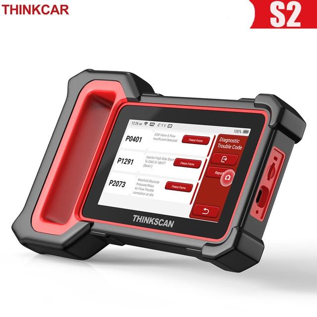 THINKCAR Thinkscan Plus S2 OBD2 Scanner ABS SRS ECM System Oil EPB BAT DPF TPMS Reset Code Reader ODB OBD 2 Car Diagnostic