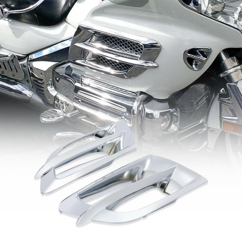 Moto Moto Chrome gauche droite carénage Accent Grilles pour Honda Goldwing GL1800 2001-2011