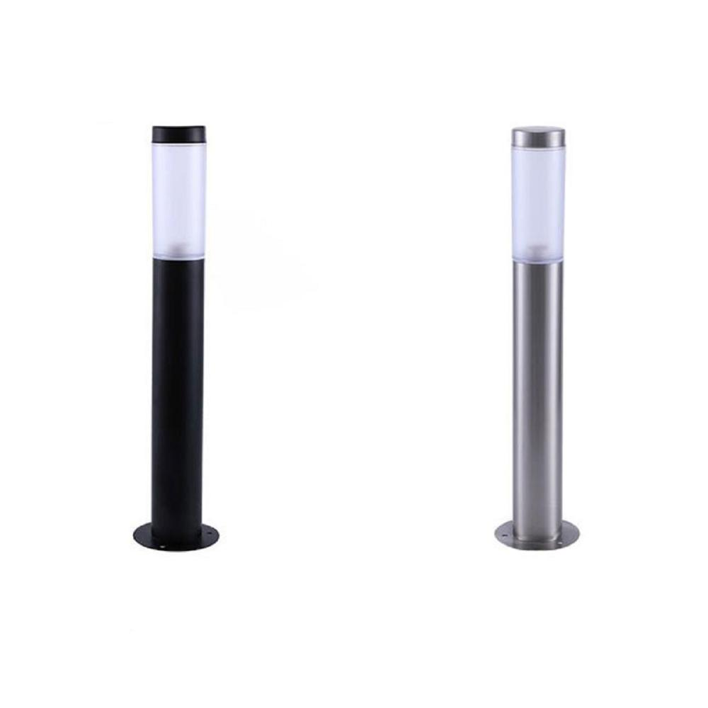 Modern Stainless Steel L45cm L60cm Long Lawn Lamps, Black Outdoor Garden Yard Light,Waterproof Led Landscape Yard Lawn Path Lamp