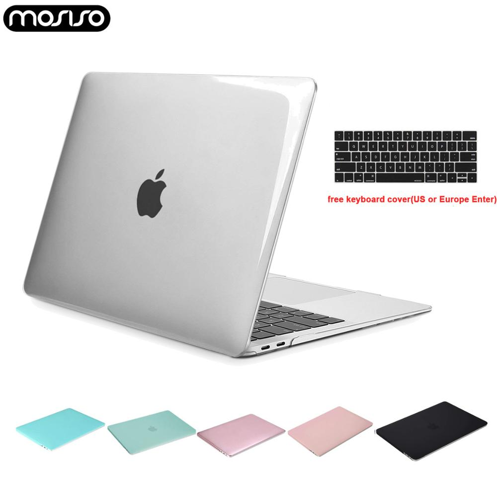 MOSISO 2019 Crystal Case For Macbook Air 13 Inch 2018 A1932 Laptop Plastic Cover Shell Mac Air Pro 13 A1706 A1708 A1989 A2159