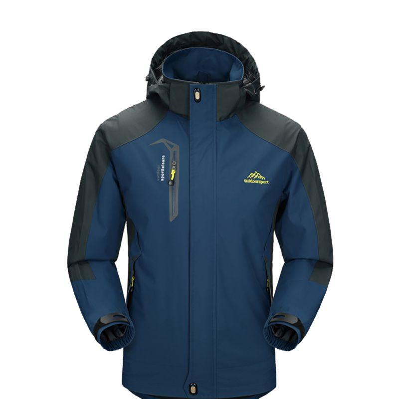 Male Bike Ski Jacket Men's Waterproof Jackets Outdoor Softshell Removable Hat Sport Clothing Trekking Camping Hiking GMT601