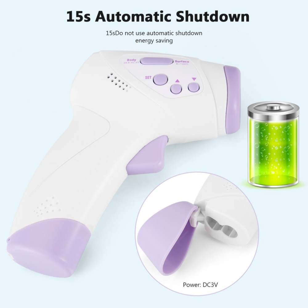 Forehead Non-contact Infrared body Temperature ABS for Adults and Children with Lcd Display Digital Laser Temperature Tool 1set