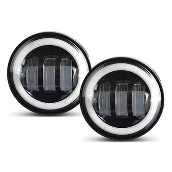Motorcycle Passing Lights 4.5 Inch LED Auxiliary Fog Light 2 PCS 6500K white color