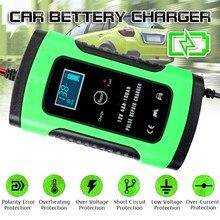 Зарядное устройство для автомобильного аккумулятора 12 В, стартер с автоматическим скачком, зарядное устройство с усилителем 6А, ЖК-дисплей, ...