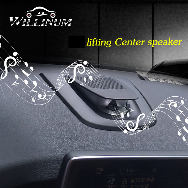 車のセンタースピーカー bmw X5 X6 F15 F16 自動車のダッシュボードコンソールオーディオリフティングスピーカー音楽プレーヤーホーンダッシュスピーカー