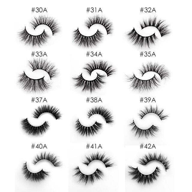 New Fluffy 3D Eyelashes Mink Lashes Makeup Full Strip Lashes Cruelty Free Lashes Luxury Mink Eyelashes maquiagem cilio faux cils 6