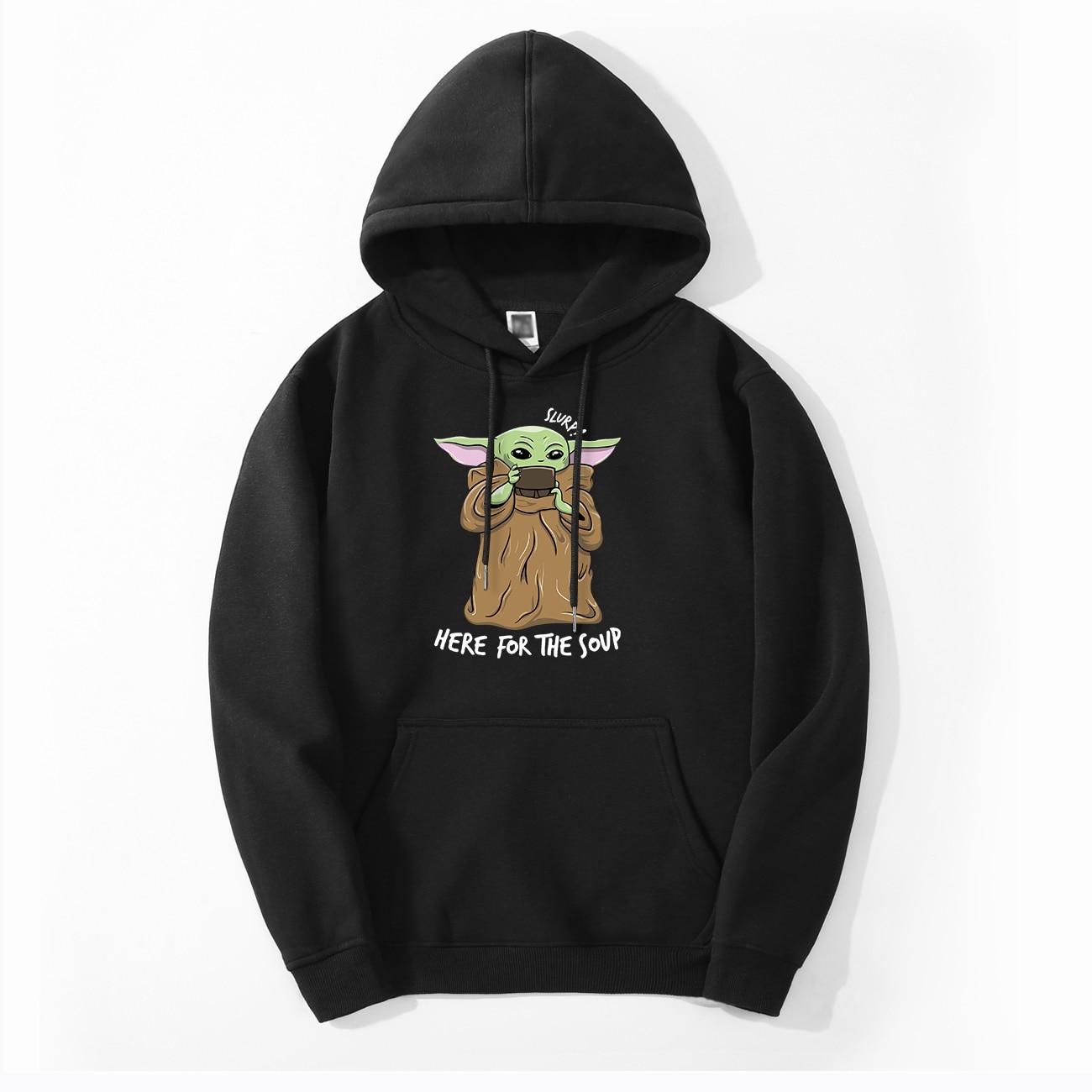 Cute Baby Yoda Hoodie Sweatshirts Fleece The Mandalorian men Hoodies Autumn Winter Hooded Star War Streetwear Fashion Sportswear