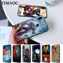 spiderman iron man super captain Silicone Case for Redmi Note 4X 5 Pro 6 5A Prime 7 8
