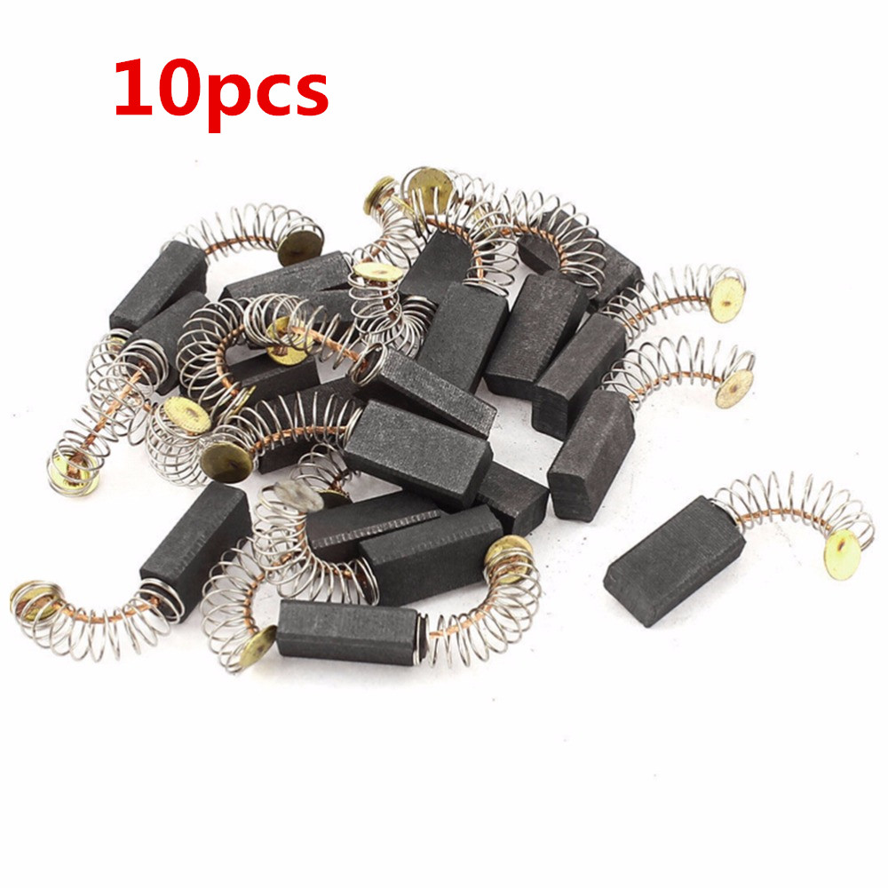 10x Mini Drill Electric Grinder Replacement Carbon Brushes Spare Parts For Electric Motors Rotary Parts 6.5x7.5x13.5mm