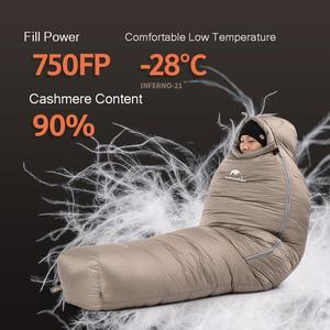 Image 4 - Naturehike 2019 20D Winter Thicken Mummy Goose Down Sleeping Bag Super Keep Warm 750FP Comfort Restriction Temperature  15℃  42℃