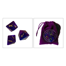 3 Pcs 8-Sided Rune Dice Resin Assorted Polyhedral Dice Set Divination Game Toys