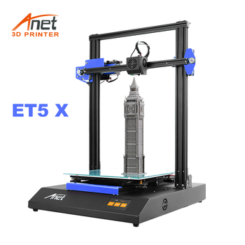 New Anet Big 3D Printer ET5X Large Print Size Dual Z Axis 3D DIY Kit Reprap i3 Max 300*300*400mm With Auto Bed Leveling hot sale cheap dual extruder dual color reprap i3 3d printer diy a8 m open source reprap high resolution desktop impressora 3d