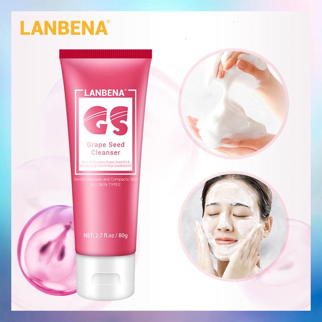 LANBENA Vitamin E Face Cleanser Foam  Moisturizing Deep Cleasing Oil Skin Smooth Face Wash Nourishing Facial Cleansing Skin Care