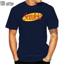Seinfeld-Camiseta con Logo de los 90 para hombre, Camisa de algodón, estilo de moda