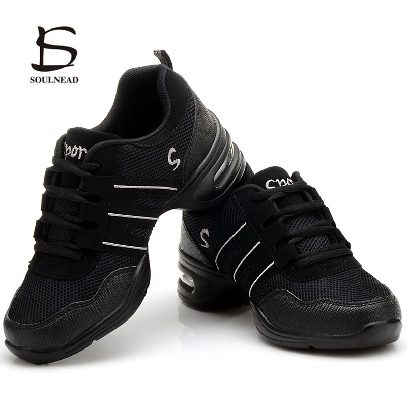 Women's Soft Bottom Jazz Hip Hop Dance Sneakers Lightweight  Breathable Dancing Shoes For Woman Ladies Modern Sports Dance Shoes