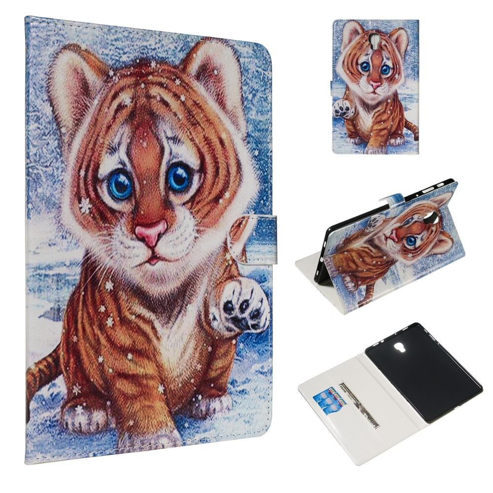 Cat Coque For Samsung Galaxy Tab A 10.5 2018 T590 T595 T597 Case Card Slot PU Stand Flip Cover For Samsung SM-T590 SM-595 Case