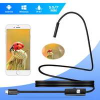 Fuers 2M 1M 5.5mm 7mm Endoscope Camera Waterproof Inspection Borescope Camera Soft Wire USB Endoscope for Android Phone OTG PC|tube cam|endoscope cameraborescope camera -