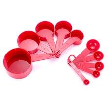 3 цвета Пластиковые мерные чашки 10 шт./лот мерная ложка кухонные инструменты измерение набор инструментов для выпечки Кофе Чай