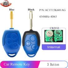 Keyecu (2 modelos para opcional) 433mhz 4d63 substituição remoto chave 3 botão para ford transit wm vm 2006-2014 6c1t15k601ag