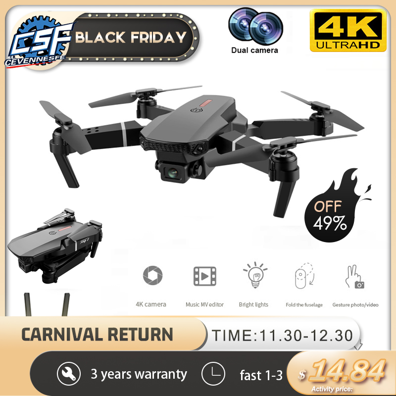 2020 New E88 Pro 4k drone gps drones with camera hd 4k rc airplane dual-camera wide-angle head remote quadcopter aircrafts toy 1